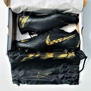 Nike Mercurial Vapor 12 Elite FG Black Gold Cleats